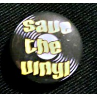 "Button ""Save The Vinyl"""